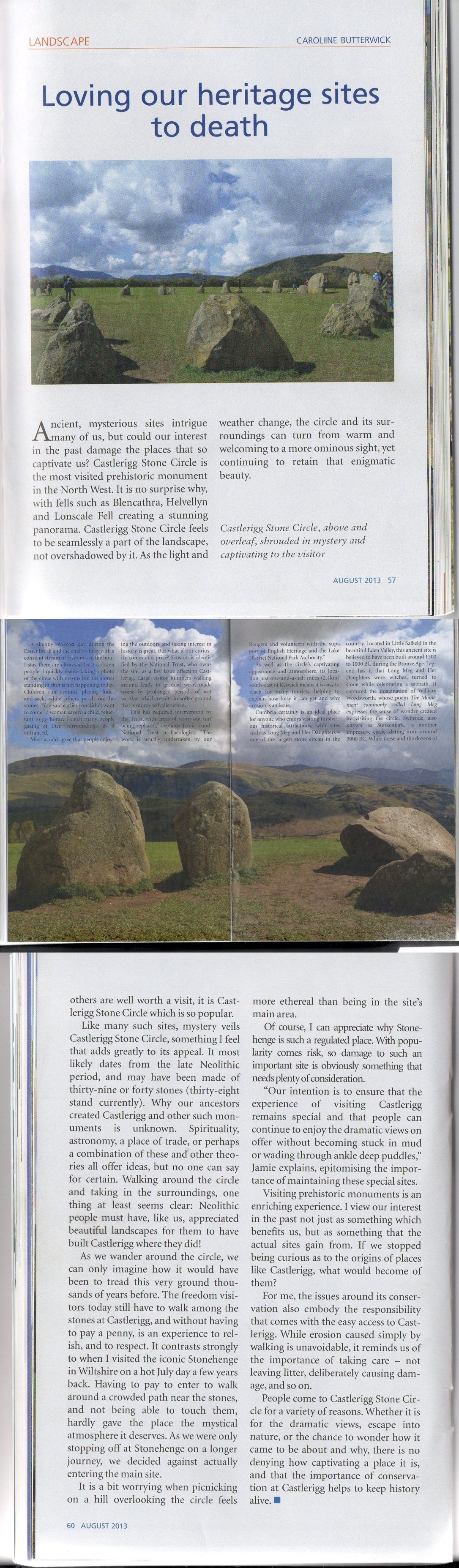 Castlerigg Cumbria Article